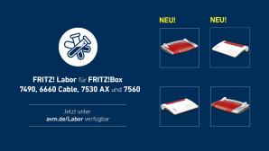 Fritz Labor für vier FritzBoxen©AVM