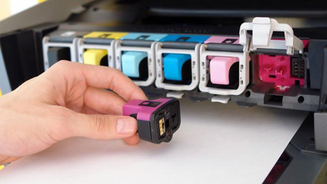 Drucker mit einzelnen Patronen©COMPUTER BILD