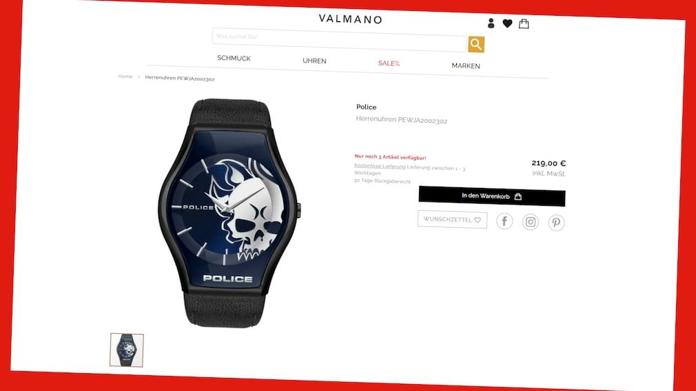 Uhren bei Valmano online zu reduzierten Preisen