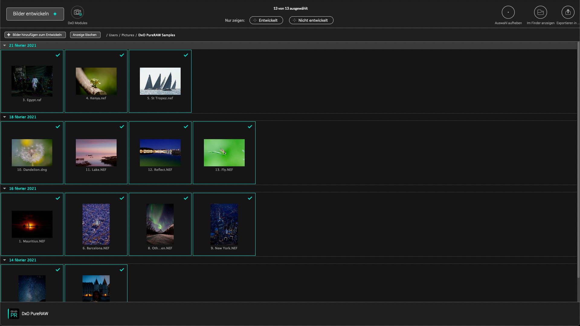 Screenshot 1 - DxO PureRaw
