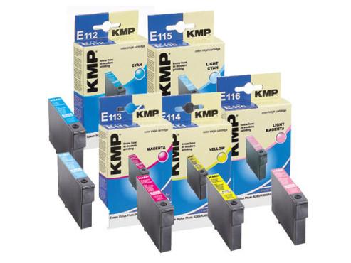 Farbpatronen: KMP E112,  E113,  E114,  E115,  E116