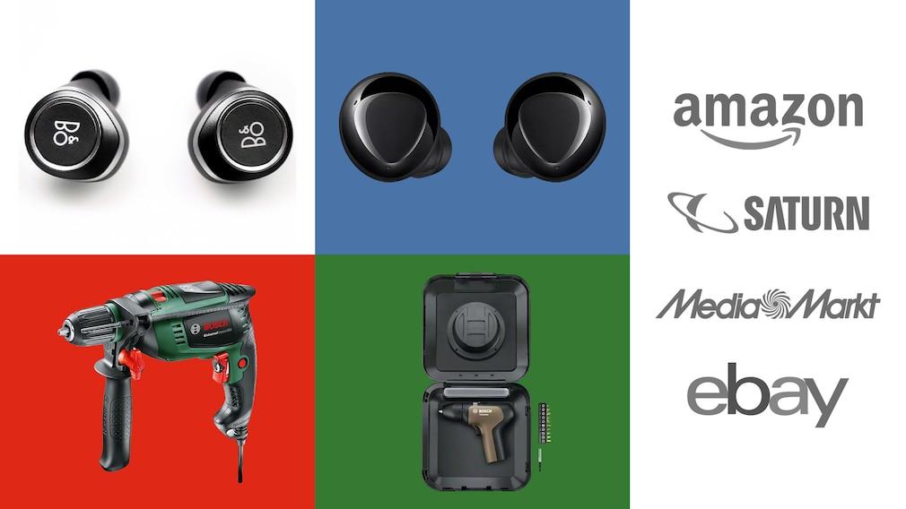 Amazon, Media Markt, Saturn: Top-Deals des Tages!©Amazon, Saturn, eBay, Media Markt, Bosch, Samsung, Bang & Olufsen