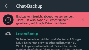 WhatsApp Backup-Sperre © Screenshot COMPUTER BILD / Janina Carlsen