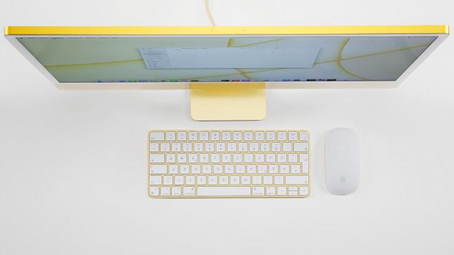 Apple iMac 24 Zoll 2021 M1 superdünnes Gehäuse©COMPUTER BILD