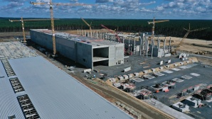 Baustelle der Gigafactory in Grünheide©gettyimages.de / Sean Gallup