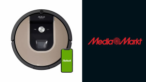 iRobot Roomba 976 neben Media-Markt-Logo©Media Markt, iRobot