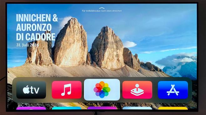 Das Apple TV streamt nicht nur Filme und Serien, es liefert etwa auch mit Urlaubsfotos und Musik ein breites Unterhaltungsprogramm.©COMPUTER BILD