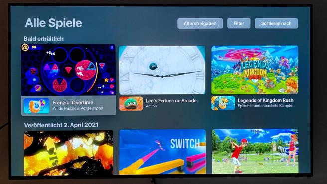 Nebenbei gibt das Apple TV auch eine passable Spielkonsole mit großer Titelauswahl ab.©COMPUTER BILD