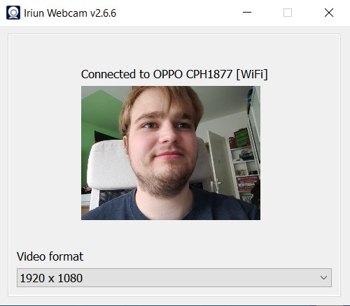 Screenshot 1 - Iriun Webcam