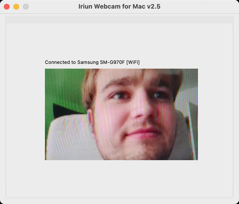 Screenshot 1 - Iriun Webcam (Mac)