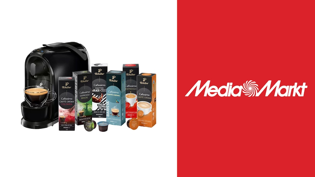 Kapselmaschine bei Media Markt im Angebot: Tchibo Cafissimo zum Sparpreis