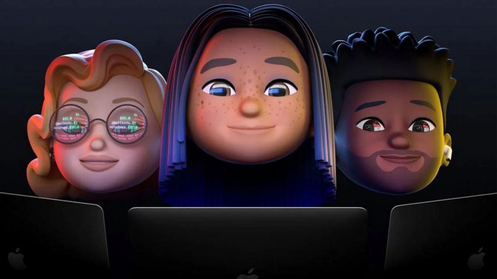Drei Memoji mit MacBooks©Apple