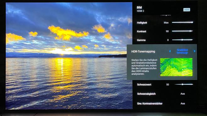 Im Menü des Sony A80J finden sich durchdachte Möglichkeiten zur Bildanpassung.©COMPUTER BILD