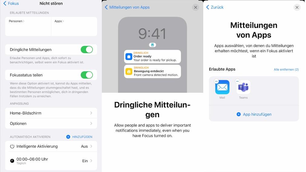 iOS 15 Nicht Stören – Fokus anpassen