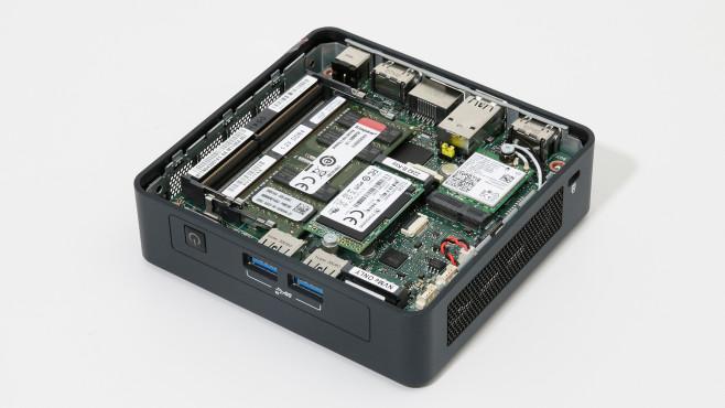 Intel NUC 11 Pro Steckplätze©COMPUTER BILD