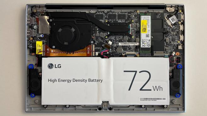 LG Gram 14 2021 mit 72-Wattstunden-Akku©COMPUTER BILD