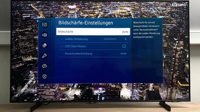 In den Experteneinstellungen des Samsung AU8079 ist Fein-Tuning nach Geschmack möglich.©COMPUTER BILD