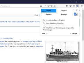 Translate Web Pages – Webseiten-Übersetzer für Firefox