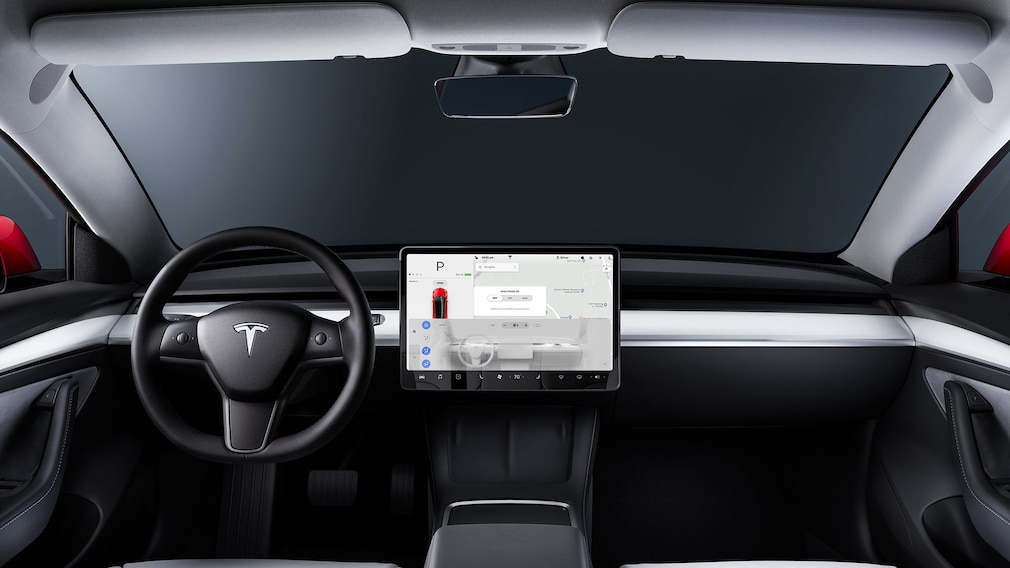 Innenraum des Tesla Model 3