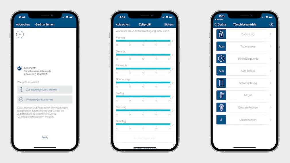 Homematic IP Türschlossantrieb, Handy-App