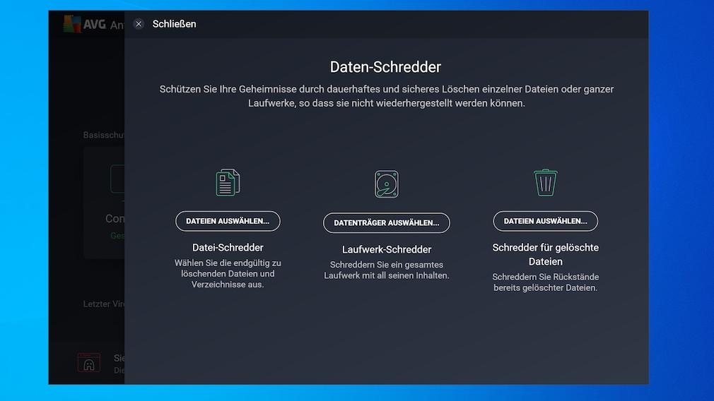 Schredder in Antiviren-Software: Mit diesen AV-Tools löschen Sie Files porentief