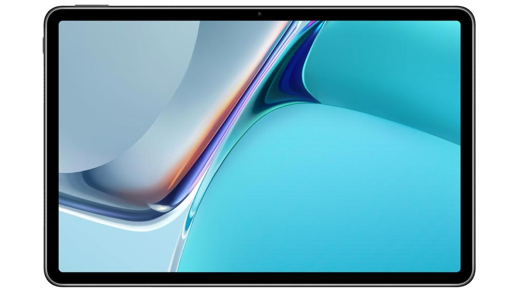Huawei MatePad 11 vor weißem Hintergrund.