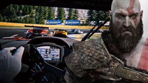 Gran Turismo 7 und God-of-War-Protagonist Kratos©God of War, Gran Turismo 7, Sony