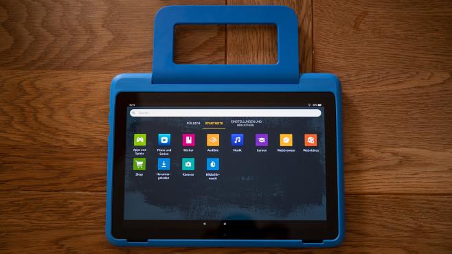 Amazon Fire HD 10 Kids Pro mit Tragehülle©COMPUTER BILD