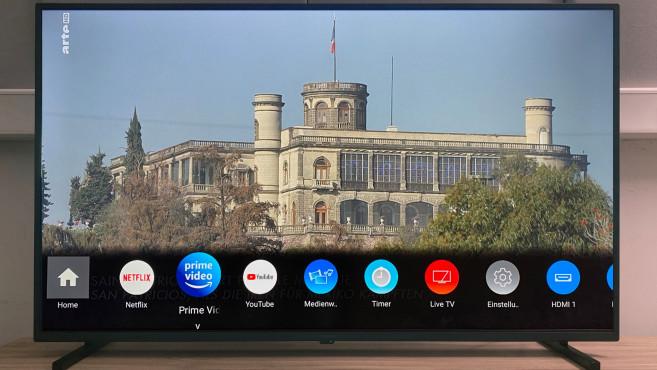 Der Panasonic JXW834 bietet auf Wunsch auch die gewohnte Ansicht der installierten Apps.©COMPUTER BILD