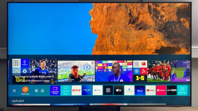 Auf dem Samsung Q70A sind alle wichtigen Streaming-Apps verfügbar.©COMPUTER BILD