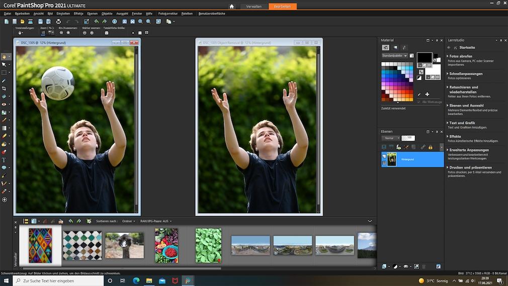 Corel PaintShop Pro 2021 Objekte entfernen