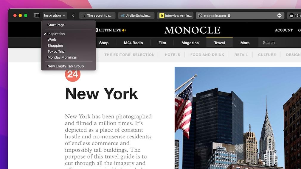 Der neue Safari-Browser