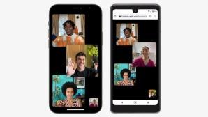 FaceTIme auf dem iPhone und einem Android-Smartphone.©Apple