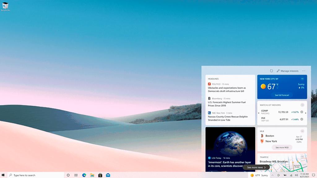 Neuigkeiten und interessante Themen: So funktioniert die Windows-Newsleiste