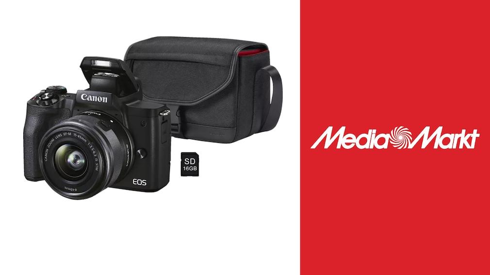 Canon-Kamera im Media-Markt-Deal: Systemkamera mit Zubehör zum Sparpreis