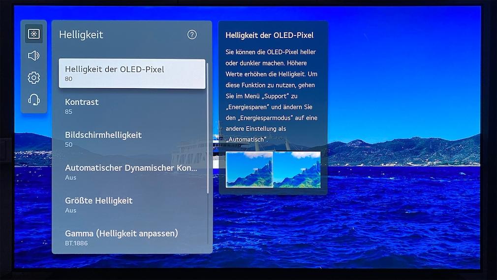Beste Bildqualität erzielte der LG OLED Z1 im Test im Filmmaker Modus.