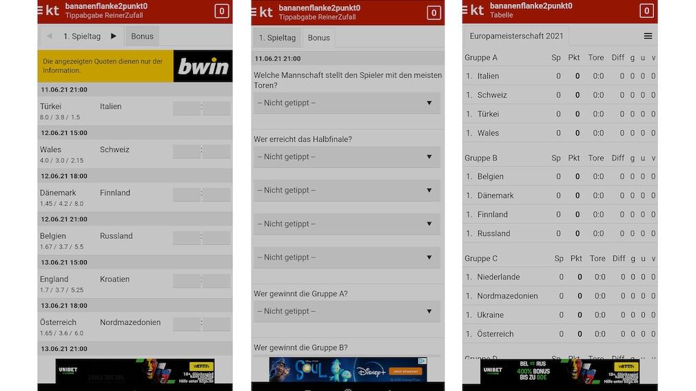 Screenshot: Kicktipp