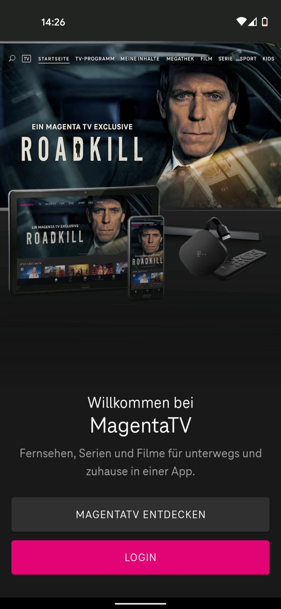 Screenshot 1 - MagentaTV (Android-App)