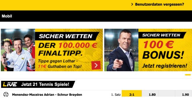 Sportwetten Anbietet Lothar Matthäus Sponsor©Interwetten