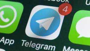 Telegram-Icon auf einem Handy-Display©iStock.com/stockcam