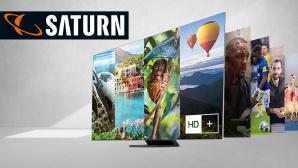Fernseher bei Saturn im Angebot: Großer Samsung Smart-TV durch Direktabzug günstiger©Samsung, Saturn, iStock.com/ Rawpixel