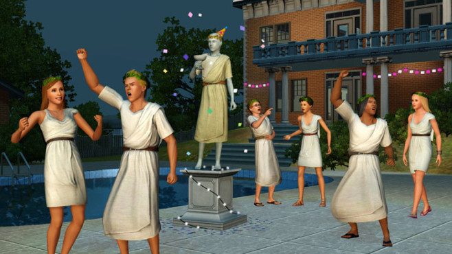 Simulation Die Sims 3 – Wildes Studentenleben: Toga-Party ©Electronic Arts