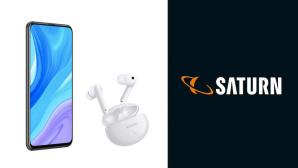 Huawei P Smart Pro mit Freebuds 4i©Huawei / Saturn