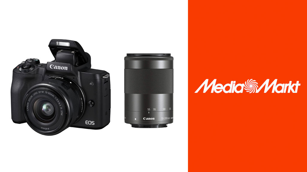 Canon EOS M50: Systemkamera-Set zum Bestpreis bei Media Markt