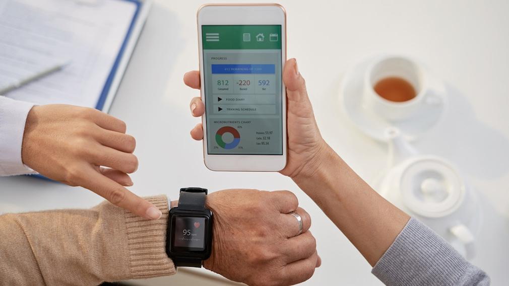 Gesundheits-App auf einem Smartphone