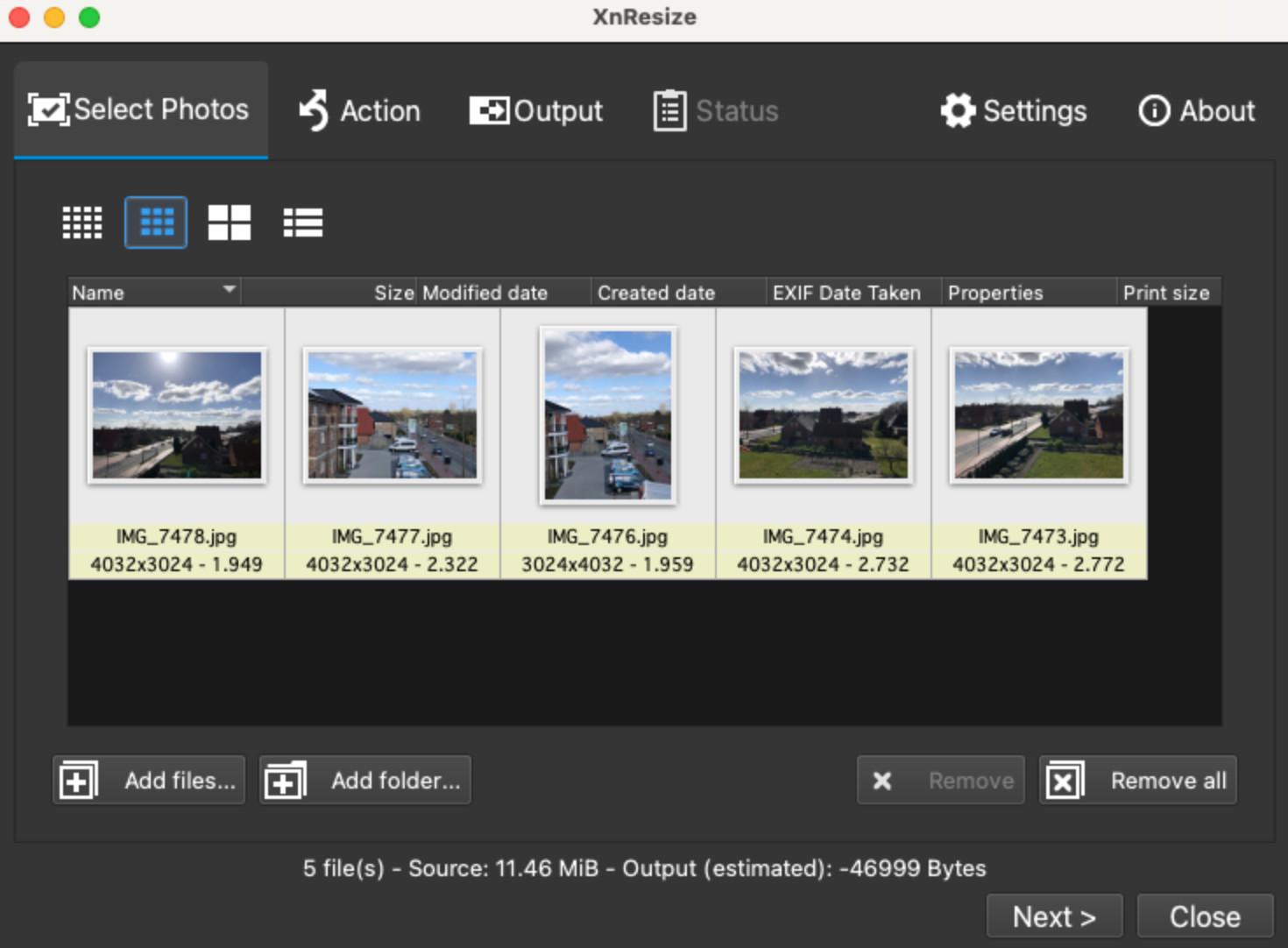 Screenshot 1 - XnResize (Mac)