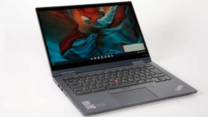 Lenovo Thinkpad C13 Yoga vor grauem Hintergrund©COMPUTER BILD