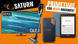 Primetime-für-beste-Angebote-Aktion bei Saturn: Starke Rabatte nicht nur beim Prime Day©Saturn, Samsung, Amazon, SanDisk, Bissell
