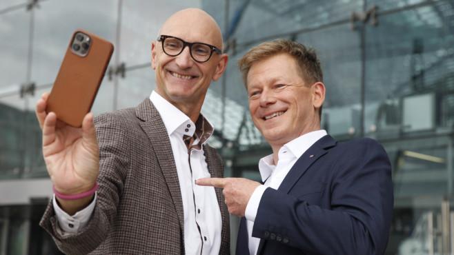 imotheus Höttges, Vorstandsvorsitzender der Deutschen Telekom / Dr. Richard Lutz, Vorstandsvorsitzender der Deutschen Bahn©Deutsche Bahn AG / Pierre Adenis