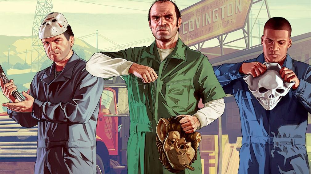 """Spielfiguren aus """"Grand Theft Auto 5""""."""